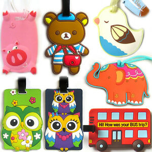 FUNKY-LUGGAGE-TAG-Bag-Baggage-Case-Holiday-Travel-Suitcase-Truck-Address-Label