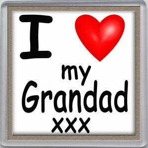 I Love My Grandad Pour Femme Coeur Boissons Coaster Fête, Anniversaire, Fête Des Pères Cadeau-afficher Le Titre D'origine Nettoyage De La Cavité Buccale.