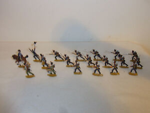 Details about 18 Vintage Pewter French Toy Soldier Infantry #AQ2