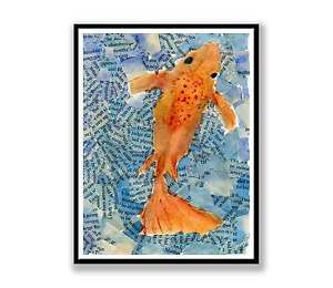 One-Goldfish-Koi-Watercolour-abstract-painting-unique-gift-Print-ID-093