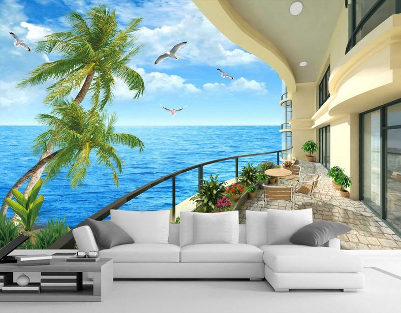 3D Bule Sea Seabirds 1121 Paper Wall Print Wall Decal Wall Deco Indoor Murals