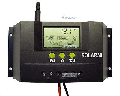 30A 12V/24V Solar Controller Regulator Charge Battery Safe Protect CE Certify SP