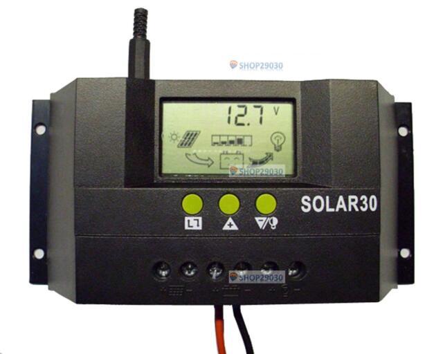30A 12V/24V Solar Controller Regulator Charge Battery Safe Protect CE Certify SP