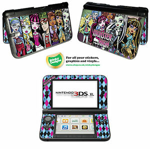 Monster-High-Vinyl-Skin-Sticker-for-Nintendo-3DS-XL