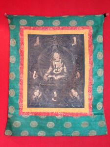 Antik-Original-Thanka-Asiatika-Thangka-Tibet-handbemalt