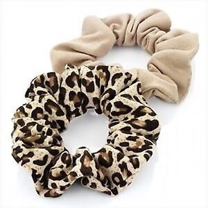 1-BEIGE-1-ANIMAL-LEOPARD-PRINT-JERSEY-HAIR-SCRUNCHIE-PONYTAIL-BAND-ELASTIC