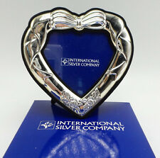 International Silver Company Silverplated Heart Shaped Photo Frame NEW