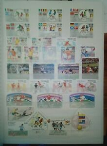CALCIO lot FRANCOBOLLI sellos TIMBRES STAMPS