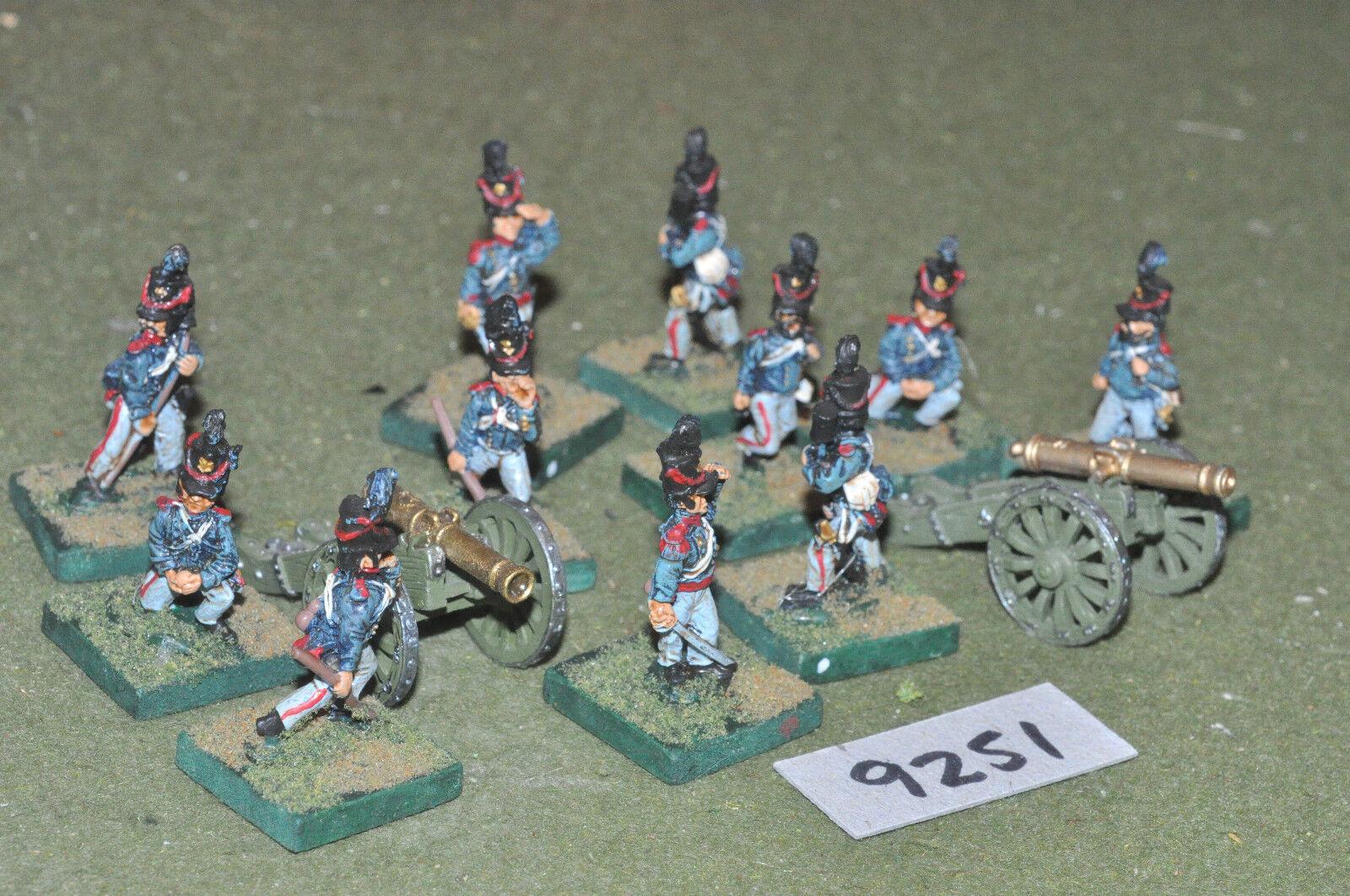 25mm ACW   mexican - american war artillery 2 guns & crews metal - art (9251)