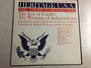 Heritage-USA-Vol-1-American-Revolution-Vol-2-Speeches-FOLKWAYS-3x-10-034-LP-Records