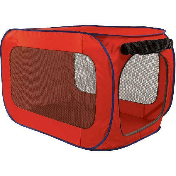 Sportpet Pop-Open Kennel, Travel Dog Crate, X Large, Extra Large Size