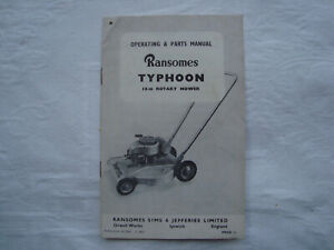 Rare-Original-Ransomes-Typhoon-Operating-amp-Parts-Manual-18-in-Rotary-Mower