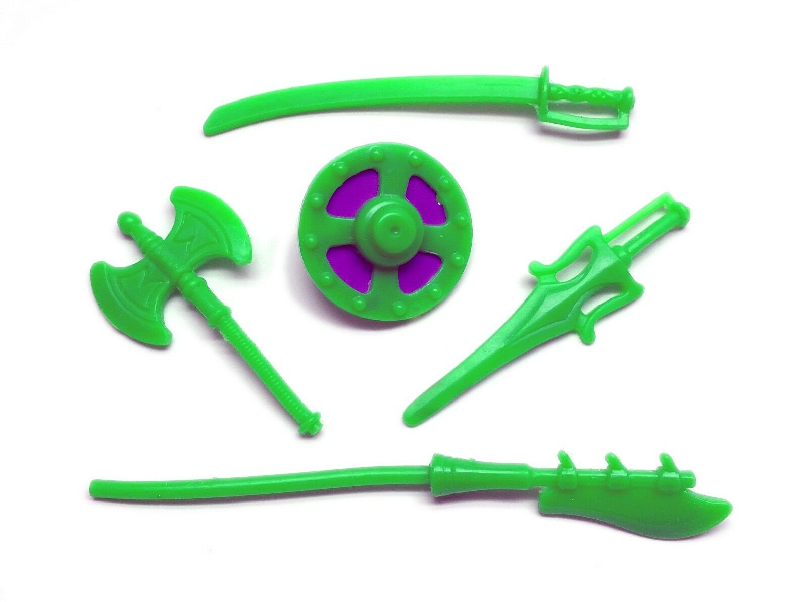 PRE-ORDER Vintage MOTU Custom SCARE GLOW WEAPONS SET of 5 He-Man Masters