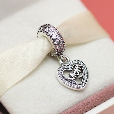 ff48804e6a6 Authentic Pandora Center Of My Heart 791521CZ Love Mom Mother Day Gift |  eBay