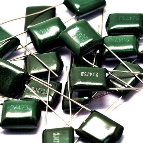 Film Foil Polyester Capacitors 100V 630V 1//1.8//2.2// 3.3// 6.8//10//22//33//47//220NF