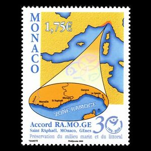 Monaco-2006-Prevention-Against-Marine-Pollution-Map-Sc-2418-MNH