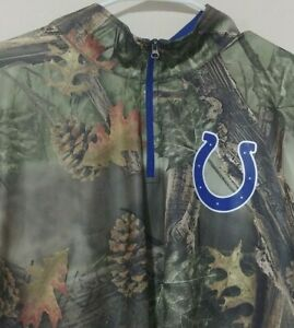 Indianapolis-Colts-NFL-Team-Appeal-TX3-Cool-Camo-T-Shirt-size-XL-1-4-Zip-EUC