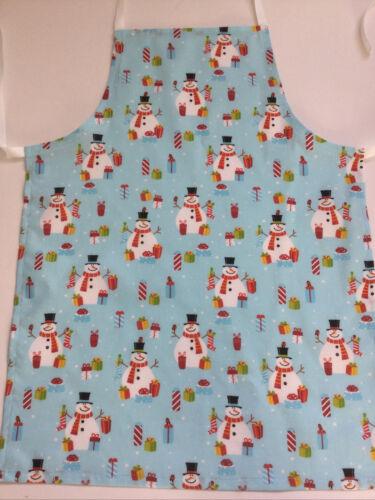 Noël Enfants Cuisine Tablier 7-10 ans Pleine Longueur enfants Craft Tablier.