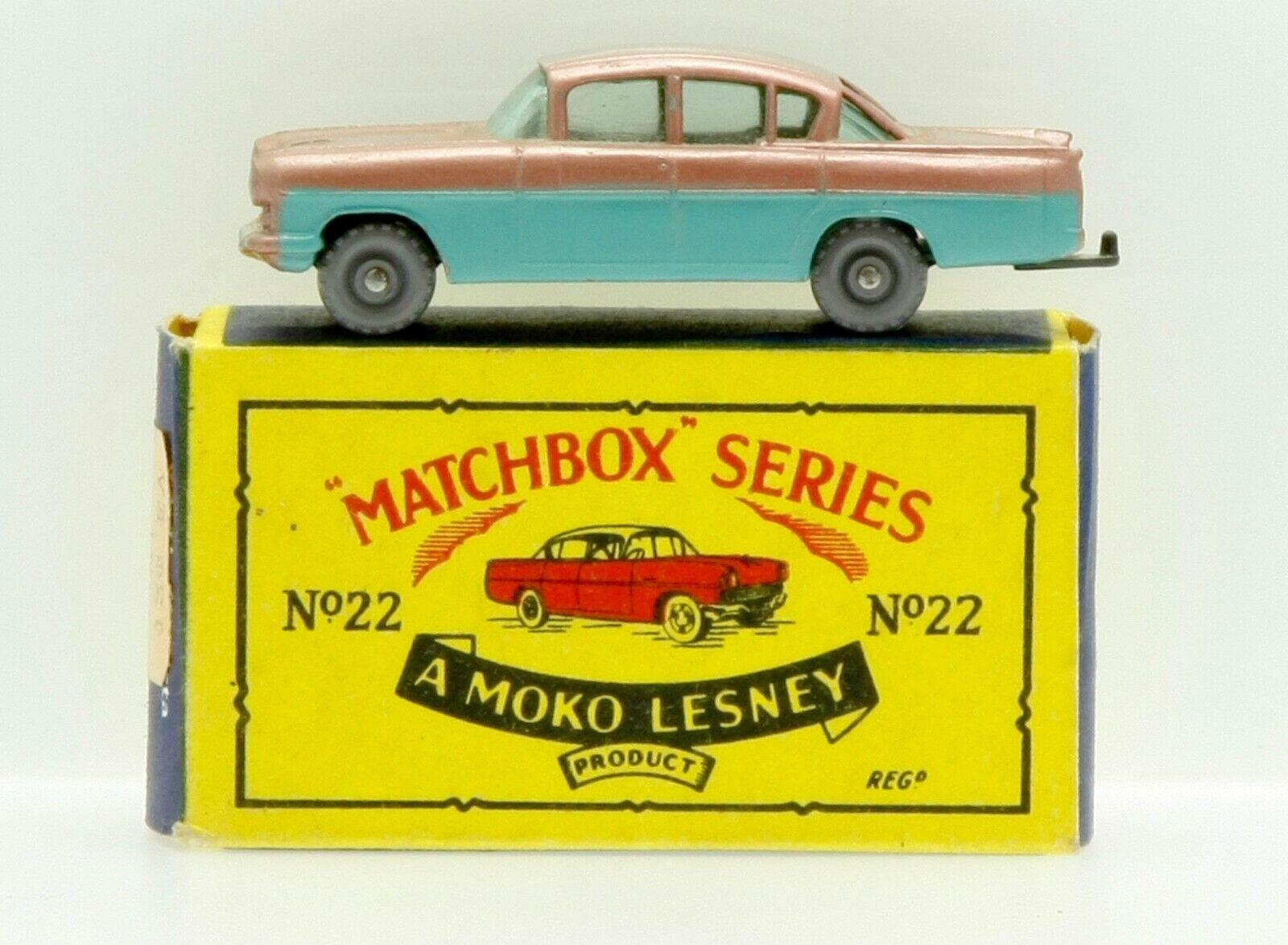New Matchbox Moko Lesney No.22  Vauxhall Cresta  Original Box 1950s Diecast