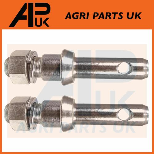 PAIR 7/8 Lower Link Linkage Implement Mounting Pin CAT 1 Massey Ferguson Tractor