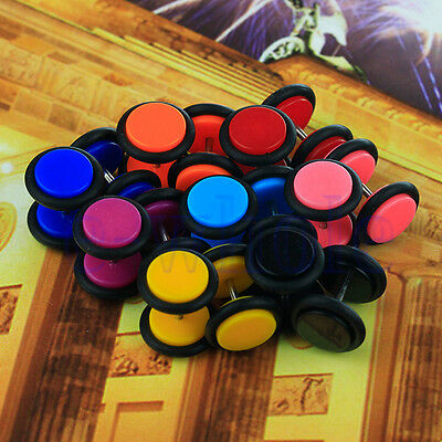 8 pairs of Cheater faux fake Ear Plugs Gauges Tapers 16G Earrings TW