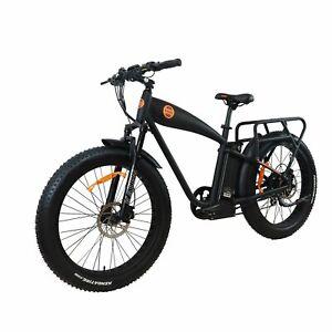 "E-Bike Fat Tire Electric cruiser Power bike1000w 14.5ah 26"" Rear Drive Ebike"
