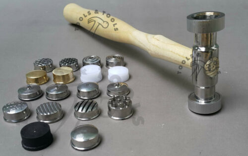 TEXTURING HAMMERS 18 FACE// HEADS PATTERNS INTERCHANGEABLE DESIGNS METAL REPOUSSE
