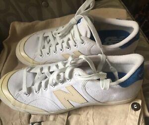 706d99c85c62d New Balance ProCourt SZ9 US White/blue Tennis Skater Shoes used Once ...