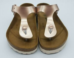 Details about Birkenstock BF GIZEH Electric Metallic Copper 35 BNIB 1012525 #616 *marked*