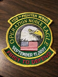"US Air Force 158th Fighter Wing ""First to Defend"" 3.5"" x 4"" Noble Eagle Patch"