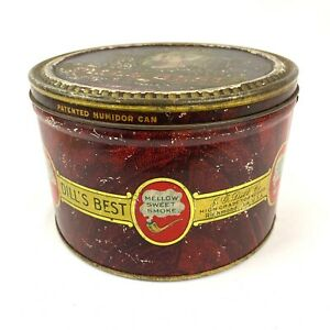 Vintage-Dill-039-s-Best-Smoking-Tobacco-Rubbed-Tin-Can-J-G-Dill-Co-Richmond-VA-MM