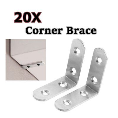 "5 x 1.5/"" STEEL RIGHT ANGLE BRACKET L Shape Corner Repair Brace Shelf support"