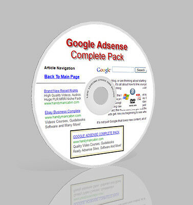 Google Adsense Complete Business Pack in DVD - Video, Guides, Websites & More!