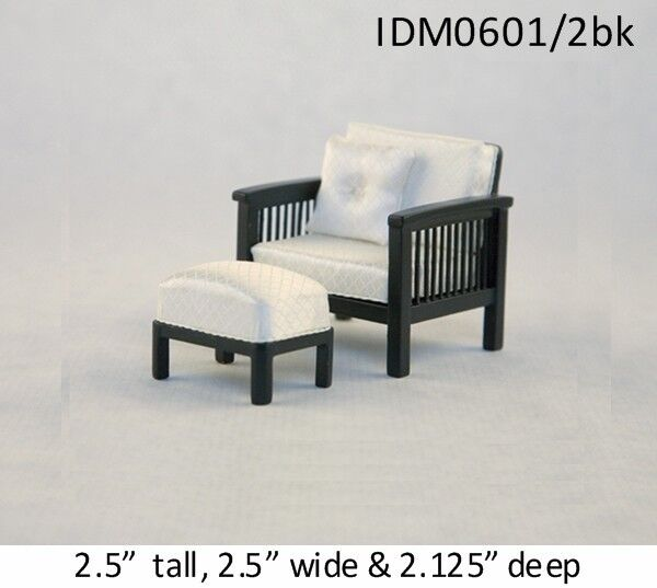 MISSION STYLE CHAIR 1/12 SCALE DOLLHOUSE MINIATURES Heirloom Collection