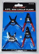 4 PIECE  MINI SNAP RING PLIERS CIRCLIP RETAINING CLIP TOOL SET INTERNAL EXTERNAL