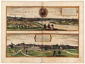 Dresden-Leipzig-Braun-Hogenberg-ca-1572-Papier-Leinwand