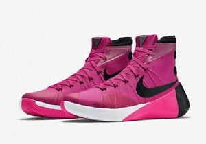 promo code 6828f a15e8 Image is loading Nike-Hyperdunk-2015-Pink-Breast-Cancer-Think-Pink-