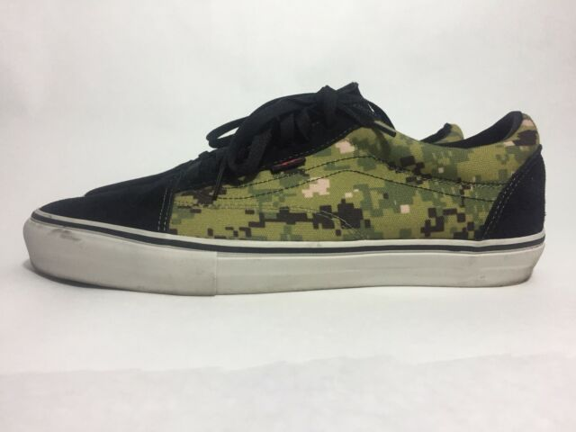 VANS Syndicate X Defcon Old Skool Pro S Olive Black Sz 12 Camo for ... 9367896a75