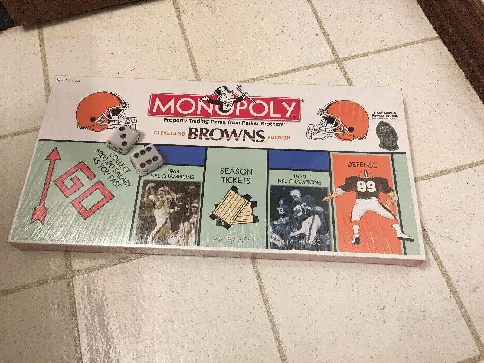 RARE NEW Oöppnad Cleveland bruns Monopol spel Football NFL