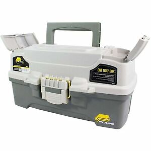 Plano 6201 One-Tray Tackle Box, Bait Storage, Extending Cantilever-tra