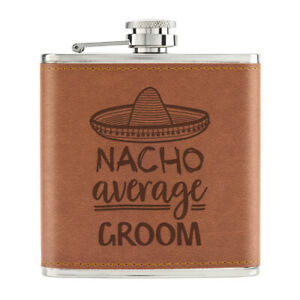 Nacho-Moyenne-Marie-170ml-Cuir-PU-Hip-Flasque-Fauve-Worlds-Best-Drole-Awesome