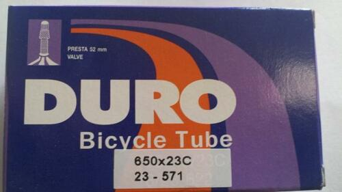 1x Duro 650C Road Bike Tube 650x23c 52mm F//V P//V Presta Valve 4730