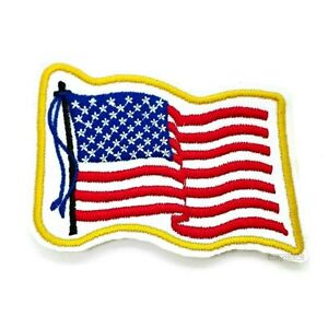 Patch-Patches-Crest-USA-Flag-Flag-America-Stars-Stripes-America-Iron-On-Patch