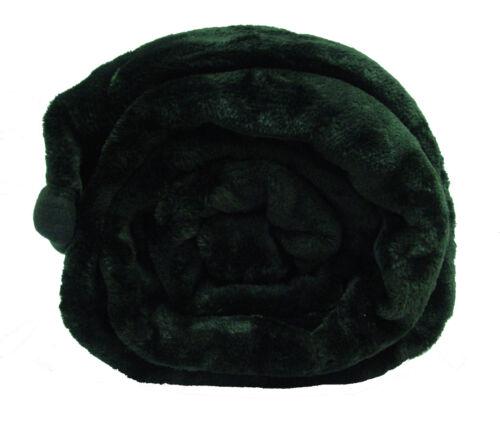 Luxury Faux Mink Fur Throw utilisantun 150 cm x 200 cm AUBERGINE BLACK RED fuschia