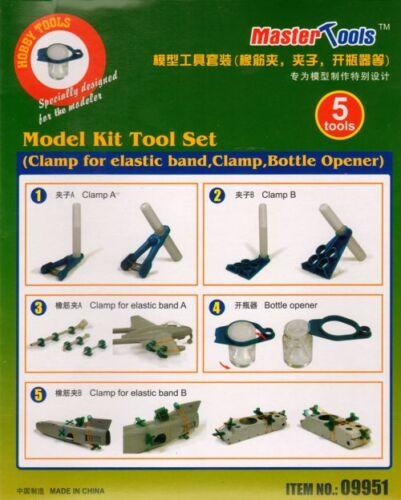 Trumpeter Model Kit Tool Set Clamp for elastic band Bottle Opener # 0995 Clamp