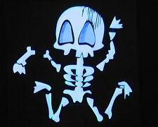 """""""Skelett"""" Leuchtfolie Leuchtpanel EL-Panel für T-Shirt Party Diskothek Hit NEW"""