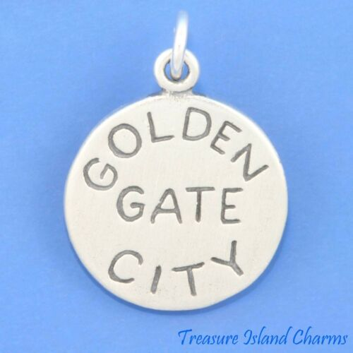 San Francisco California Golden Gate City .925 Sterling Silver Charm Pendentif