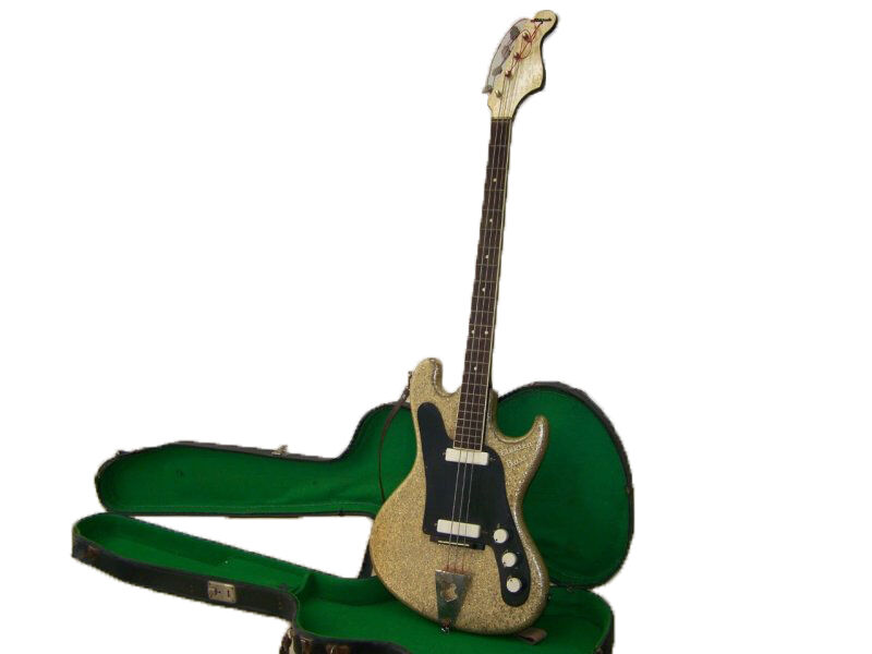 Alte Gitarre Migma Elektra Bass Kult Retro DDR Ostalgie selten rar sehenswert
