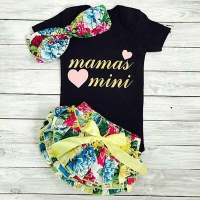 42a9c63727601 3PCS Newborn Kids Baby Girls Clothes Romper Tops+Tutu Skirt+Headband ...