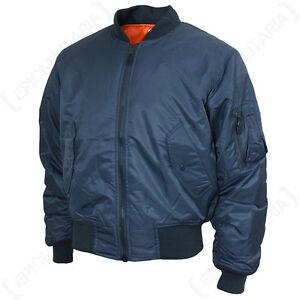 TEESAR US MA1 FLIGHT JACKET - Dark Blue Pilot Coat Outerwear Mens ...